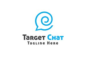 Target Chat Logo Template