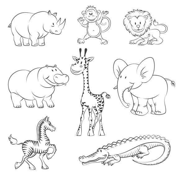 Safari and jungle vector animals ~ Graphics ~ Creative Market