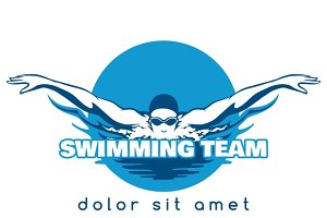 Swimming Team Vector Logo