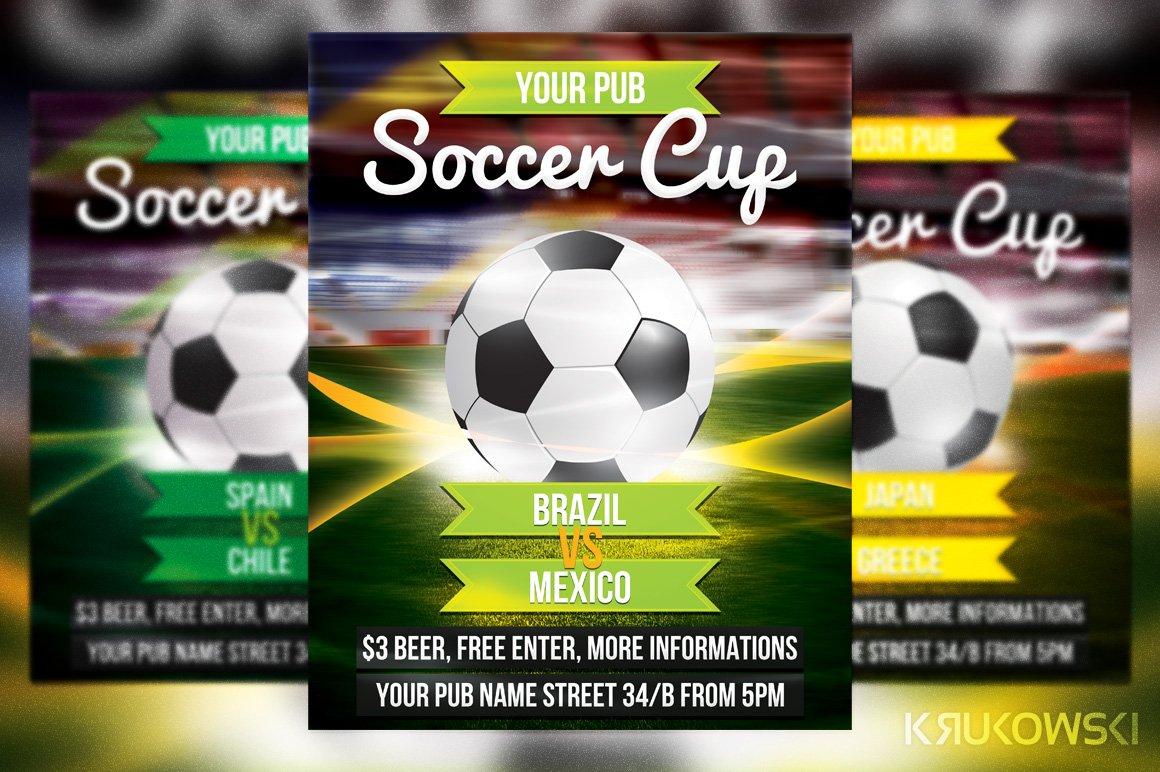 Soccer Cup Flyer Templates Creative Market – Soccer Flyer Template