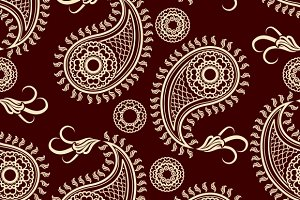 Henna tatoo paisley seamless pattern