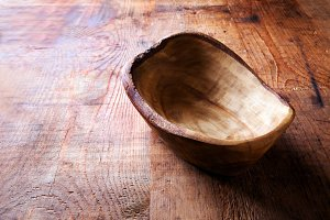 wooden bowl of olive tree