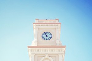 Beautiful vintage clock tower