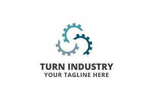 Turn Industry Logo Template