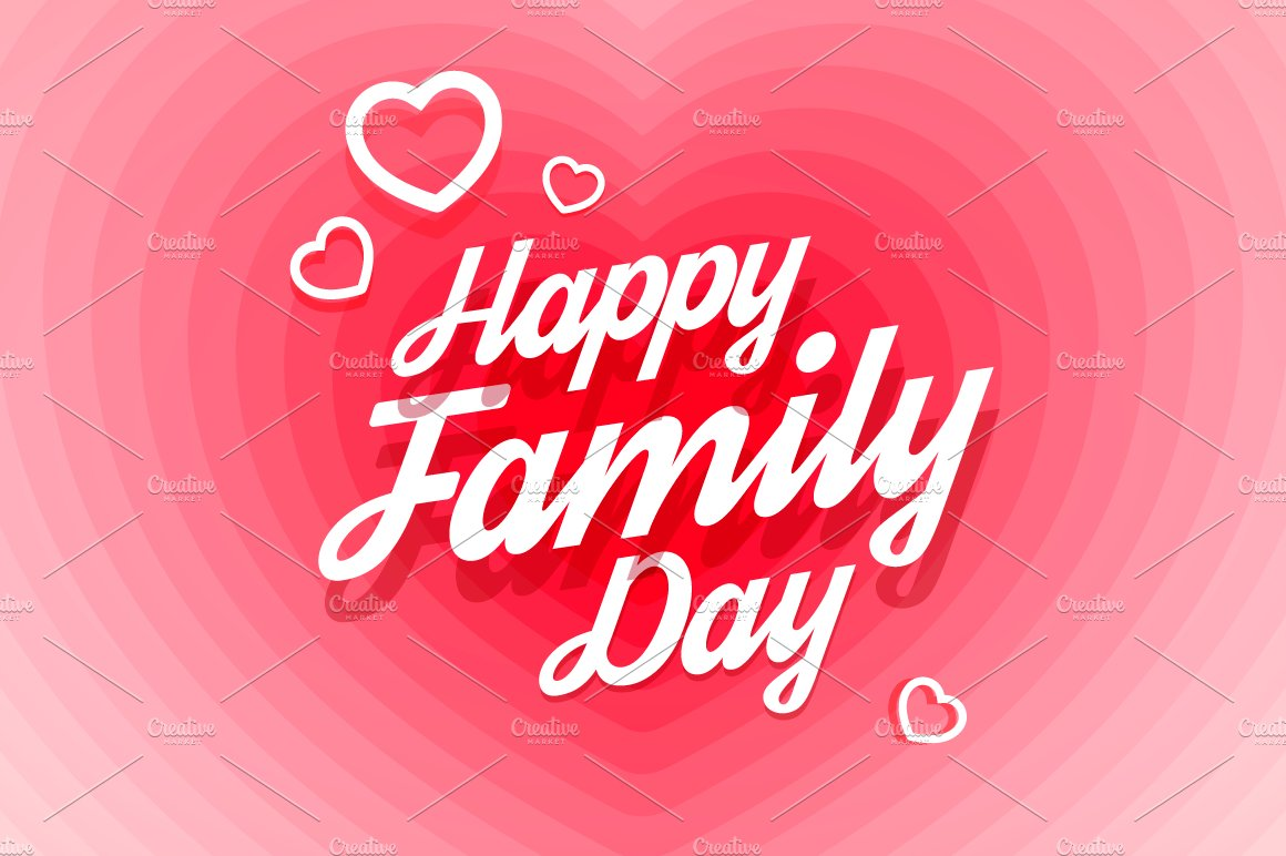 Happy Family Day Greeting Card Illustrations Creative Market