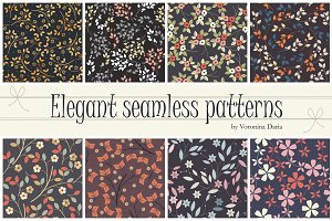 8 Elegant seamless patterns