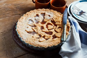 pie with marmalade