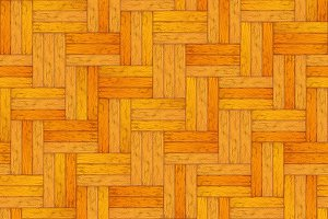 Light colored wooden parquet