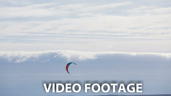 Winter snowkiting on the field. in Graphics