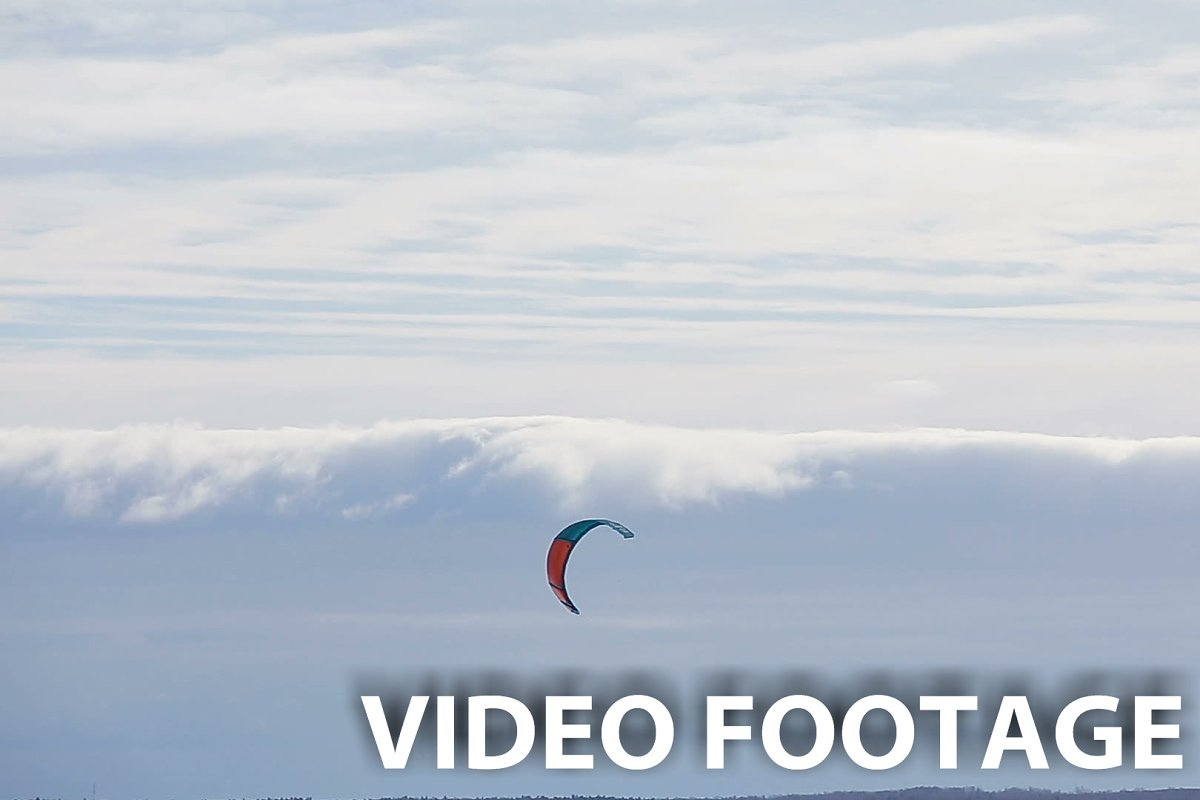 Winter snowkiting on the field. in Graphics - product preview 8