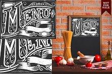 Retro element for Menu on blackboard