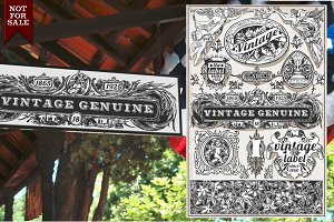 Vintage Genuine Banners & Labels