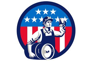 American Builder Beer Keg Flag