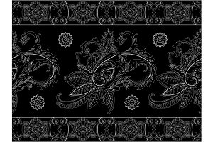 Ornamental Repeat Paisley Pattern