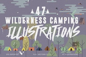 47 Wilderness Camping Illustration