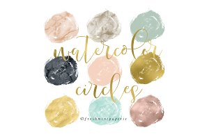 watercolor circles clipart