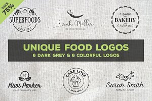 Unique Food Logos – Bundle