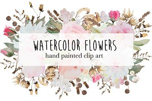"watercolor flowers ""set 2"""
