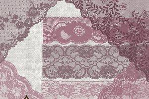 Mauve Purple Lace Clipart