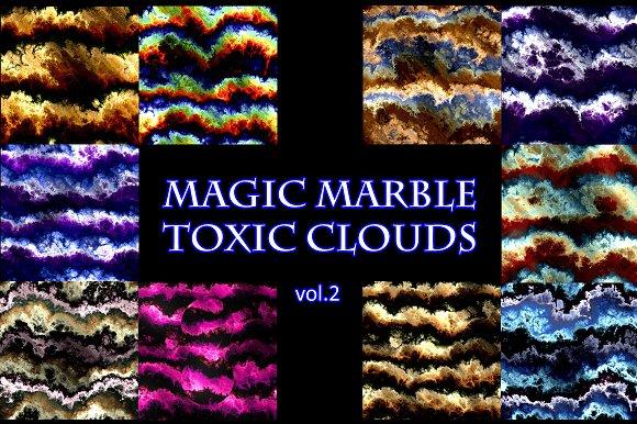 Magic Marbled Toxic-Clouds vol.2 - Illustrations