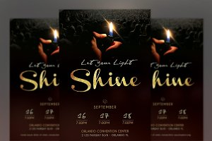 Shine Church Flyer Poster Photoshop