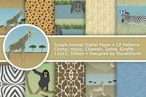 Jungle Animal Paper Patterns