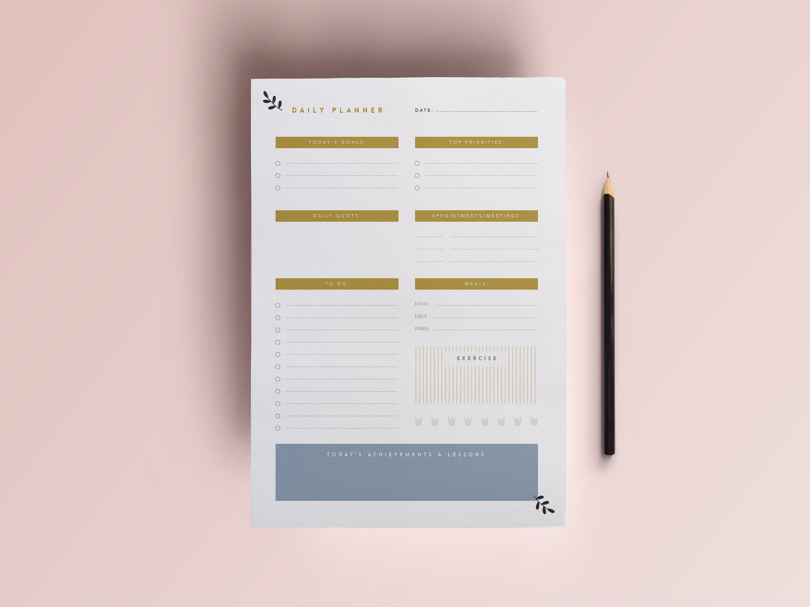daily planner printable a4 planner stationery templates