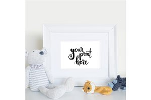 Styled white frame mockup - nursery2