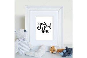 Styled white frame mockup - nursery4