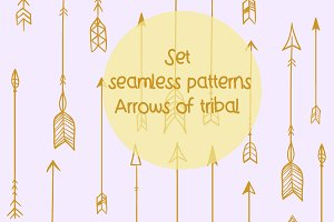 patterns set Arrows tribal