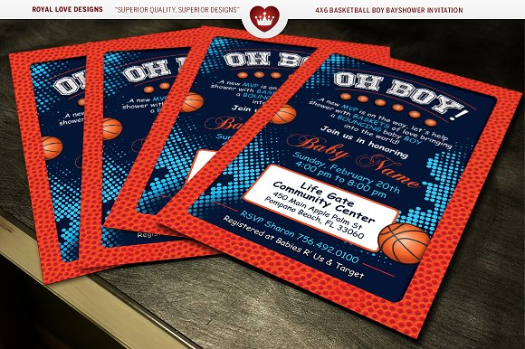 basketball boy baby shower bundle invitation templates creative