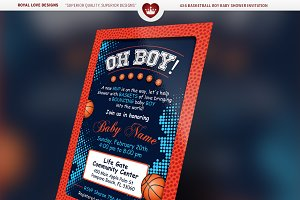 Basketball Boy Baby Shower Bundle