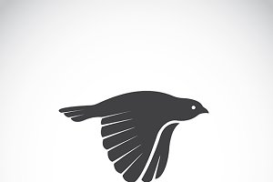 Vector image of an bird icon