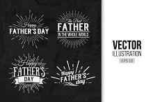 Happy Father's Day Chalkboard labels