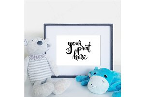 Styled framed mockup - boys nursery1