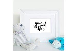 Styled frame mockup - boys nursery2