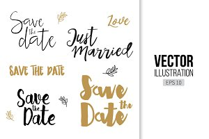 Save The Date lettering invitation