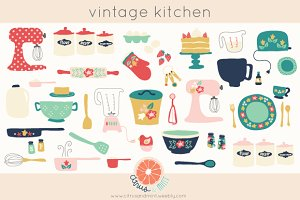 Vintage Kitchen Clip Art