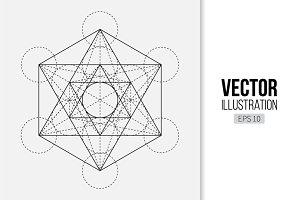 Metatron's Cube. Sacred Geometry