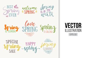 Spring time lettering typography
