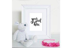 Styled white frame mockup - girls 4