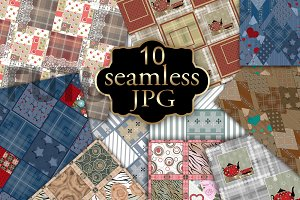 SALE Patchwork seamless scrapbook