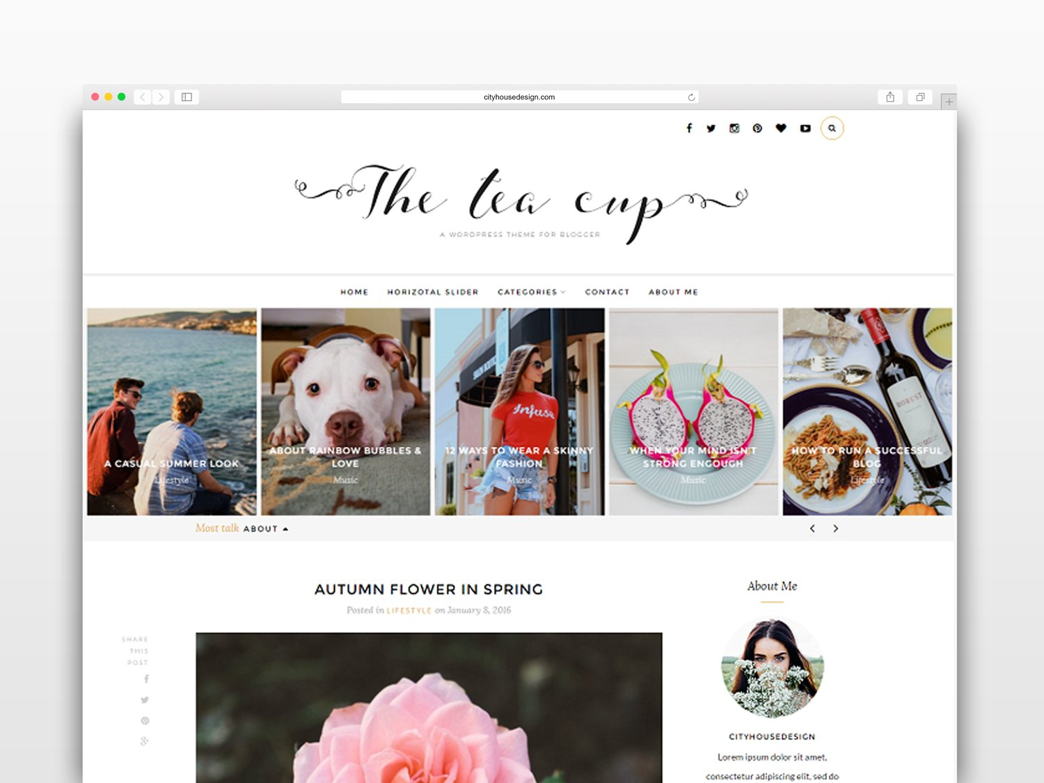 The Tea Cup Wordpress Blog Theme Wordpress Blog Themes