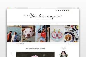 The Tea Cup - Wordpress blog theme