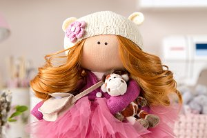Cute Textile Handmade Interior Doll