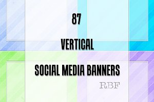 87 Vertical Social Media Banners