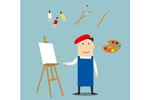 Artist profession concept