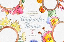 Watercolor Flower Wedding Clipart