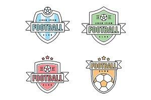 Footbal, soccer club vector logo