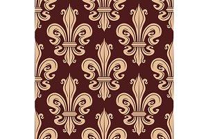 Fleur-de-lis seamless floral pattern
